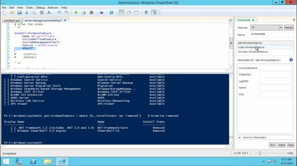 TechNet Radio: (Part 3) Windows Server 2012 R2 Features on Demand - Server Manager PowerShell Cmdlets