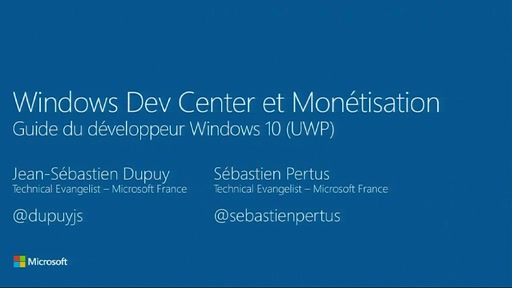 Guide du développeur Windows 10 - 9. Windows Dev Center et Monétisation