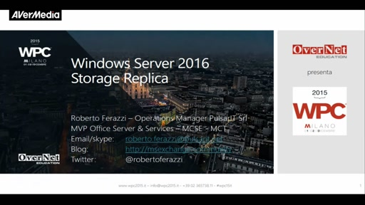 Windows Server 2016 Storage Replica
