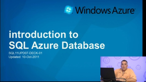 Introduction to SQL Azure (October 2011 Update)