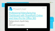 Professional Manufacturing Dashboards with SharePoint Online and Visio Pro for Office 365