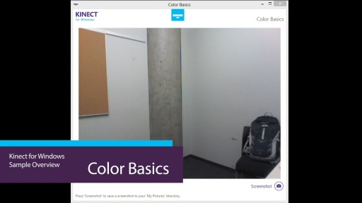 Kinect For Windows Color Basics Video