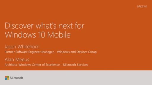 Discover what's next for Windows 10 Mobile for phones and small tablets