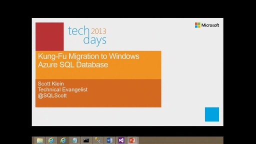 Kung Fu Migration to Windows Azure SQL Database