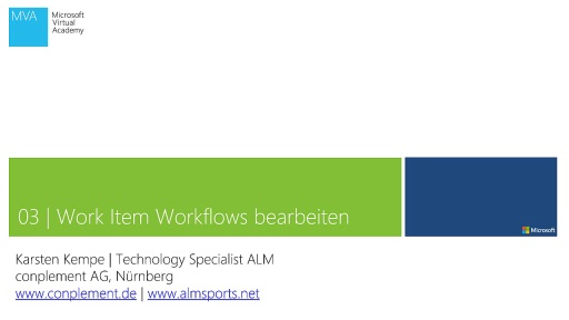 03 | Work Item Workflows bearbeiten