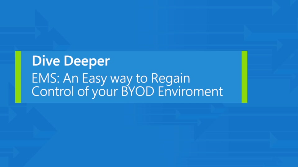 Enterprise Mobility Suite: When BYOD is the new standard