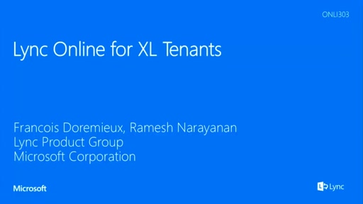 Lync Online for XL Tenants