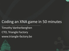 Coding an XNA game in 50 minutes