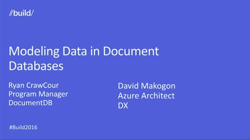 Modeling Data for NoSQL Document Databases