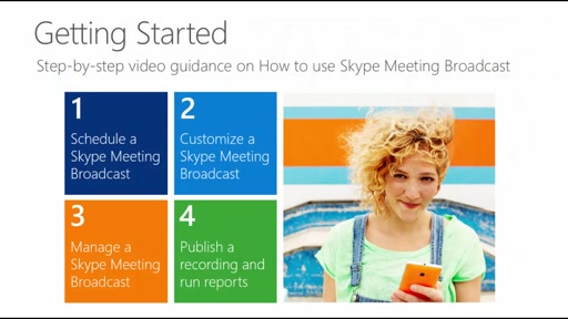 Overview of Skype Meeting Broadcast and how to schedule a Skype Meeting Broadcast