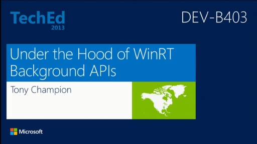 Under the Hood of WinRT Background APIs