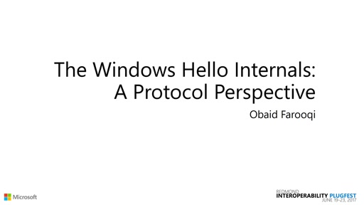 The Windows Hello Internals