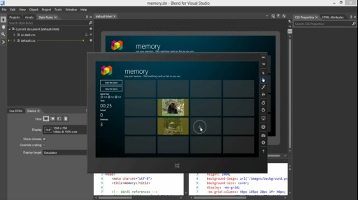 How Do I: (Part 7) Using Blend to Design HTML5 Windows 8 Apps: Build and Run Project in Blend and Visual Studio