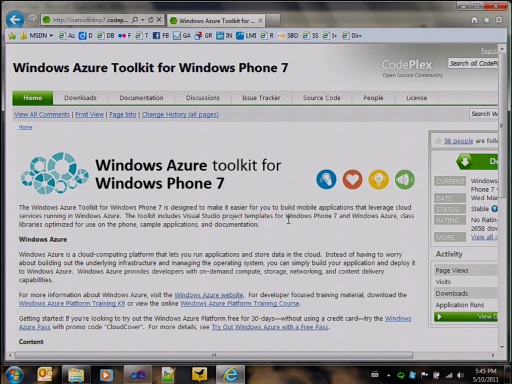 Screencast: présentation du Toolkit Windows Phone 7 pour Windows Azure