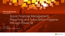 Azure Financial Management, Reporting and Subscription Hygiene through Power BI