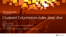 Clustered Columnstore index deep dive