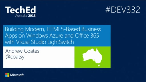 Building Modern, HTML5-Based Business Apps on Windows Azure and Office 365 with Visual Studio LightSwitch