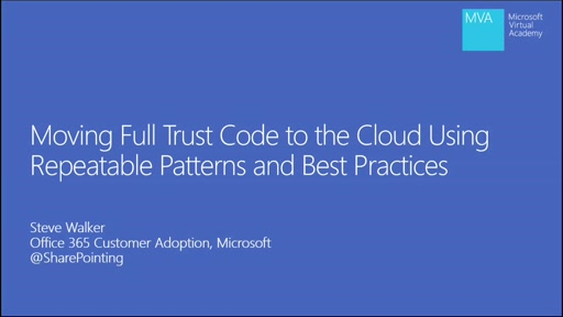 Moving Full Trust Code to the cloud using repeatable patterns and best practices
