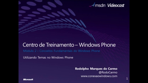 Windows Phone 7 - Utilizando Temas