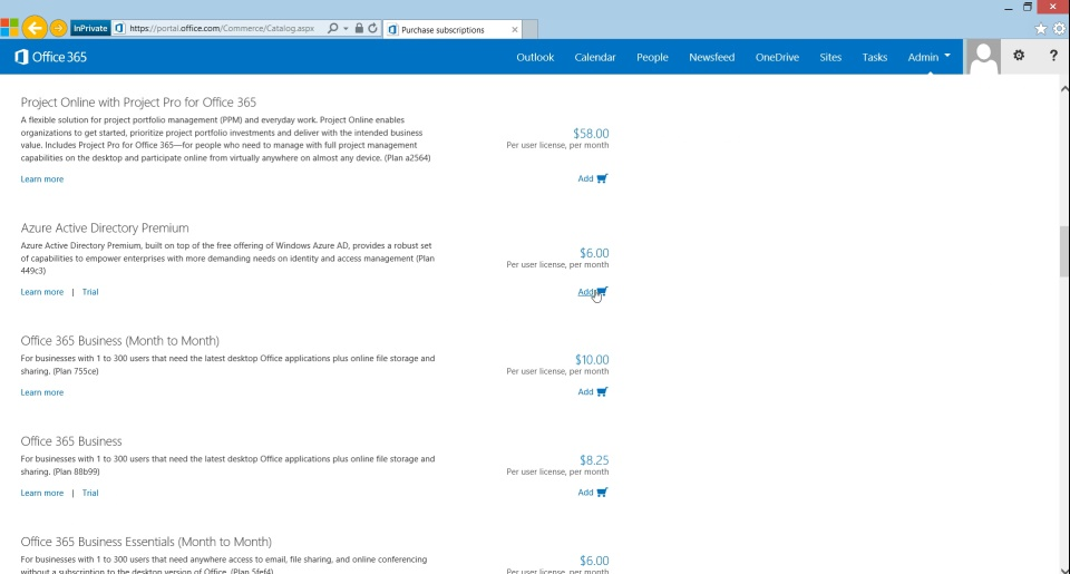 How to Purchase Azure Active Directory Premium - Existing Customers