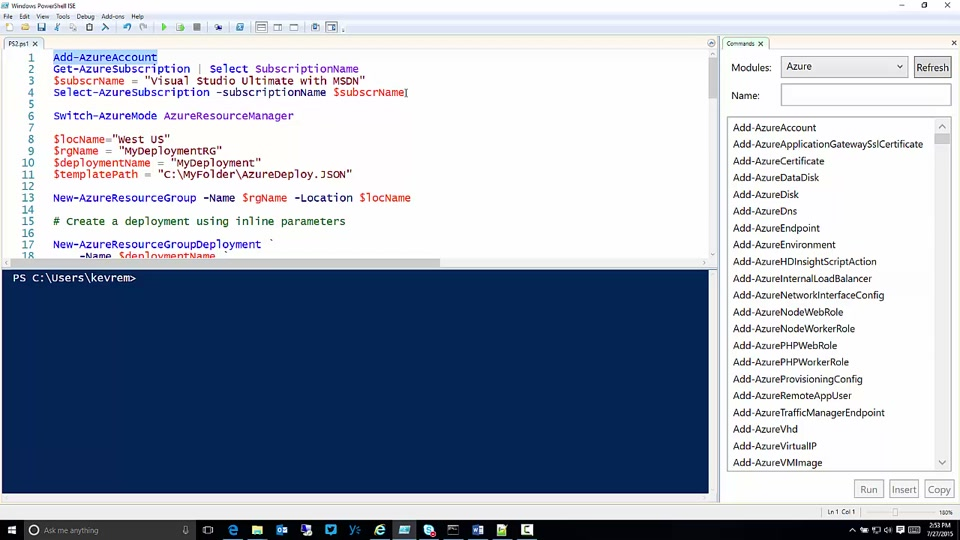Deploy an application with Azure Resource Manager template