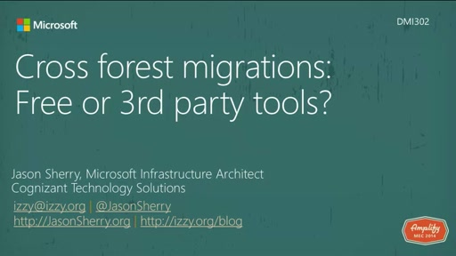 Cross forest migrations: Free or 3rd party tools?