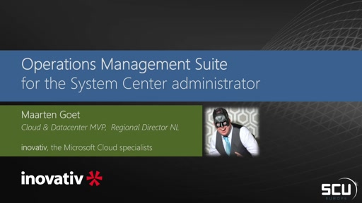 Operations Management Suite for the System Center Operations Manager Administrator
