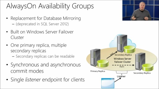 Updating your Database Management Skills to Microsoft SQL Server 2014 : (04) Always-On High Availability