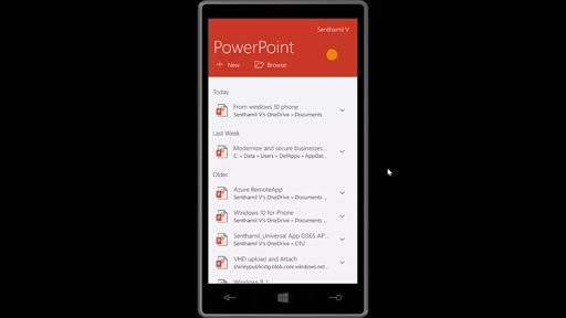 02 Senthamil Selvan -Using PowerPoint from Windows 10 for Phone