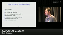 Lightning Talks: C++ Package Manager