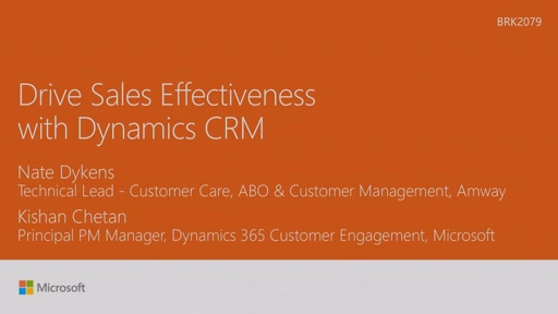 Drive sales effectiveness with Dynamics CRM