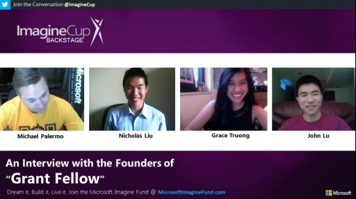 Imagine Cup: BACKSTAGE - An Interview with the Founders of Grant Fellow