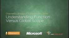 Understanding Function versus Global Scope - 10