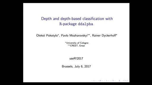 Depth and depth-based classification with R package **ddalpha**