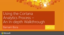 Using the Cortana Analytics Process - An In-depth Walkthrough