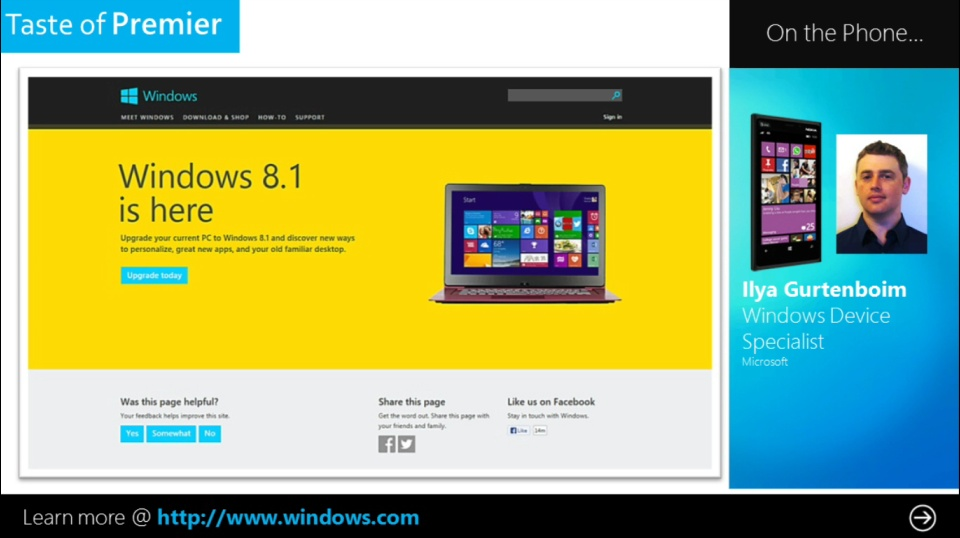 Taste of Premier: Favorite New Features in Windows 8.1