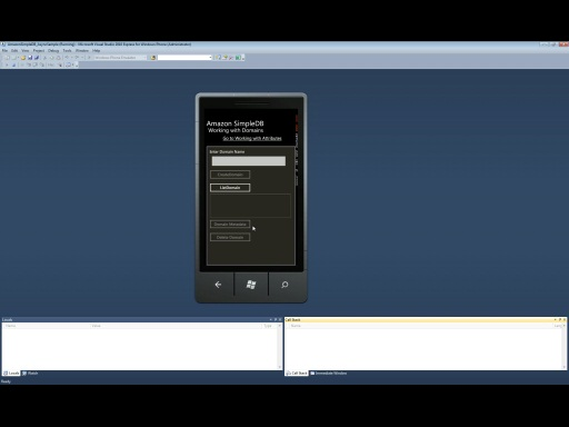AWS SDK for Windows Phone - SimpleDB sample walkthrough