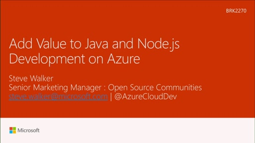 Add value to Java and Node.js development on Azure