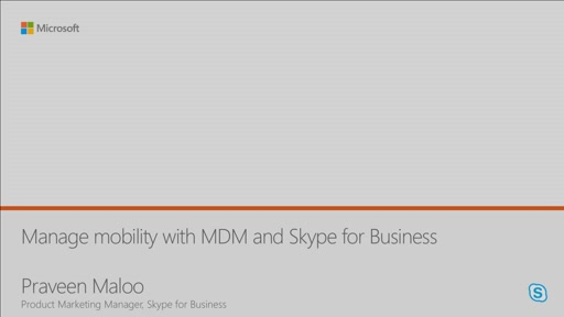 Manage mobility with MDM and Skype for Business