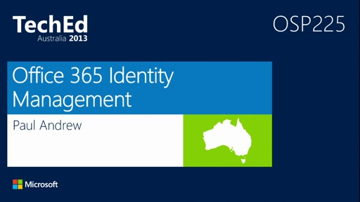 Office 365 Identity Management