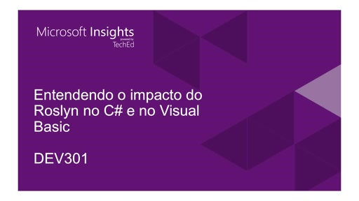 Entendendo o impacto do Roslyn no C# e no Visual Basic