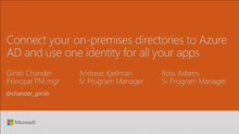 Connect your on-premises directories to Azure AD and use one identity for all your apps