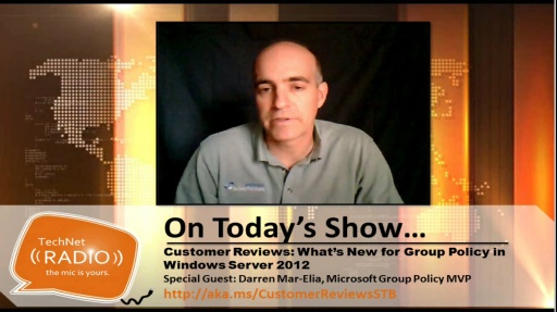 TechNet Radio: STB News Bytes - What's New for Group Policy in Windows Server 2012
