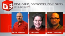 //build Debrief with James Chambers, Colin Melia, and Bruce Johnson
