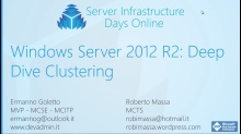 Windows Server 2012 R2: Deep Dive Clustering