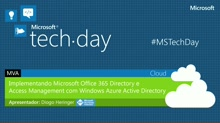 Implementando o Microsoft Office 365 Directory e Access Management com Windows Azure Active Directory