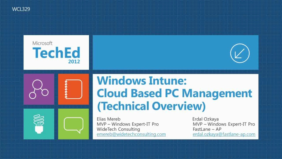 Windows Intune: Cloud Based PC Management (Technical Overview)