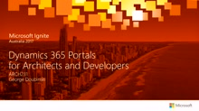 Dynamics 365 Portals for Architects and Developers