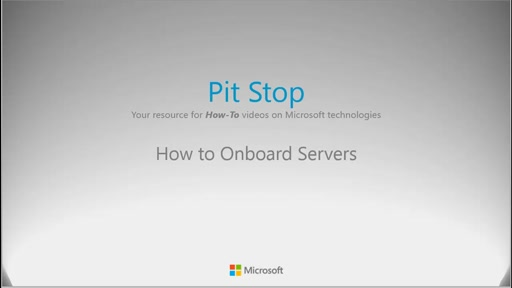 How to onboard servers