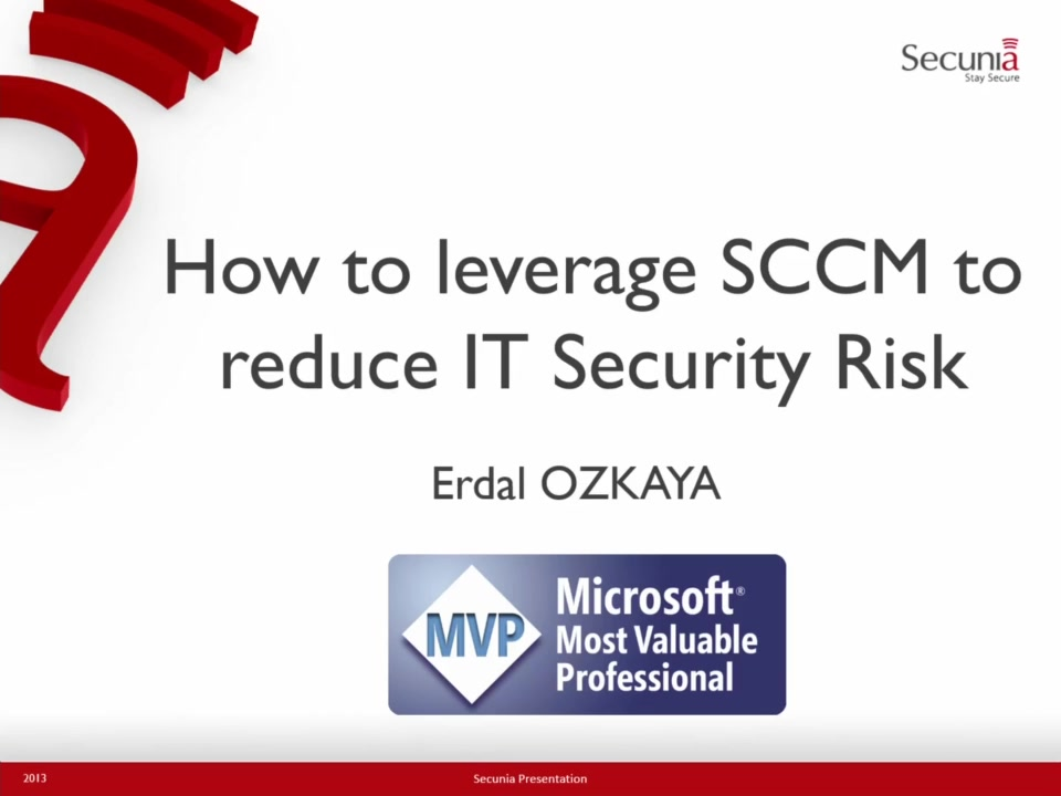 Secunia: How to leverage System Center 2012 to reduce IT ...